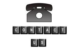 kontaktuje się my Fotografia Stock