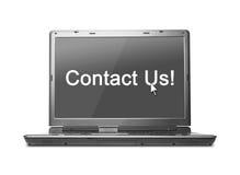 Kontaktuje się my! fotografia stock