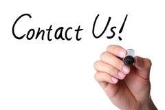 Kontaktuje się My! zdjęcie stock