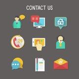 Kontaktuje się My ikony Obrazy Stock