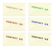Kontaktuje się my koperta - cdr format ilustracji