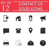 Kontaktuje się My stały ikona set, sieci komunikaci znaki Obraz Royalty Free