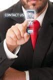 Kontaktuje się nasz biznesowego pojęcie fotografia stock