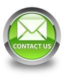 Kontaktuje się my glansowany zielony round guzik (email ikona) Obrazy Royalty Free