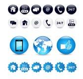 Kontaktuje się my ikona set