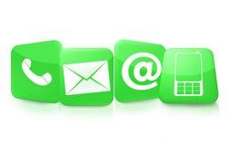 Kontaktuje się my ikony Zdjęcie Stock
