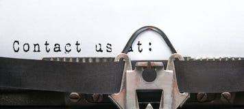 kontaktuje się poczta dzwoni my Fotografia Stock