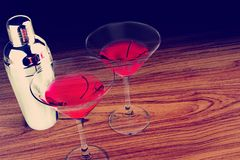 kontaminacja koktajl zawiera eps10 wizerunku Martini trybów przezroczystość różnorodną Obraz Stock