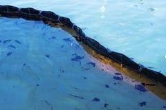 Kontaminerad strand i Chonburi, Thailand Miljö- katastrof En kontrollbang är ett tempo Arkivfoton