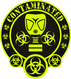 Kontaminerat Biohazardemblem Royaltyfri Fotografi