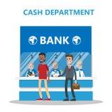 Kontant avdelning för bank royaltyfri illustrationer