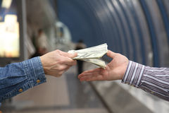 kontant betalning Arkivfoto