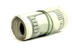 kontant dollar hundra en Royaltyfri Fotografi