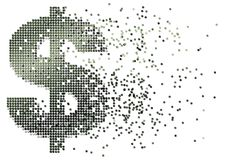 kontant dollarflöde vektor illustrationer