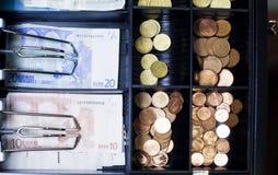 kontant eurosregister Arkivbild