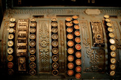 kontant gammalt register Arkivfoto