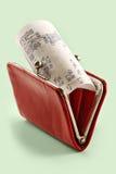 kontant handväskakvitto för bakgrund Royaltyfria Foton