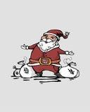 Kontant jultomten Fotografering för Bildbyråer
