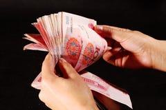 kontant kinesisk rmb yuan Arkivfoto