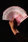 kontant kinesisk rmb yuan Fotografering för Bildbyråer