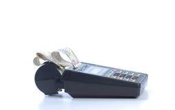 kontant krediteringsmaskin för kort Royaltyfria Bilder