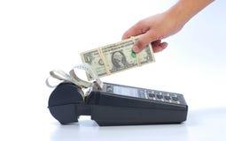 kontant krediteringsmaskin för kort Arkivbilder