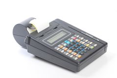 kontant krediteringsmaskin för kort Arkivfoto
