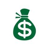 Kontant logovektor för pengar Arkivbilder