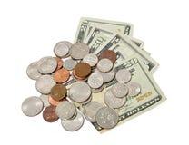 kontant mynt Arkivfoto