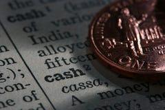 kontant mynt Arkivbilder