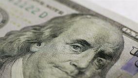 kontant pengarbakgrund Benjamin Franklin arkivfilmer