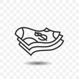 Kontant pengarsymbol Arkivfoto