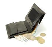 Kontant in plånboken Fotografering för Bildbyråer
