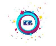 Kontant teckensymbol illustrationpengar för dollaren 3d framförde symbol mynt royaltyfri illustrationer