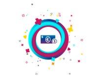 Kontant teckensymbol illustrationpengar för euroen 3d framförde symbol mynt stock illustrationer