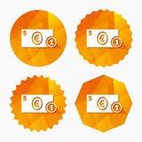 Kontant teckensymbol illustrationpengar för euroen 3d framförde symbol mynt royaltyfri illustrationer