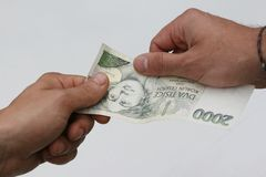 kontant utbetalning royaltyfri bild