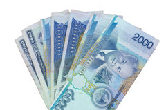 Kontanta Laos National Bank Arkivbild
