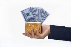 Kontanta pengar Arkivfoto