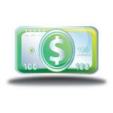 Kontanta pengar shoppar direktanslutet symbolen Royaltyfri Bild