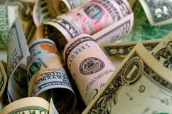 Kontanta US dollar arkivbild