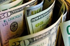 Kontanta US dollar royaltyfri bild