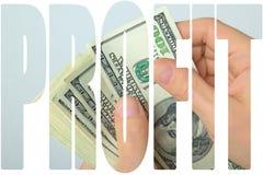 Kontanta US dollar i hand Fotografering för Bildbyråer