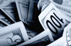 Kontanta US dollar royaltyfria bilder