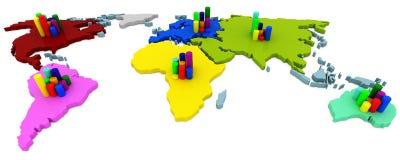 kontinent för 2 diagram Arkivbilder