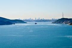 Kontinent Istanbuls Bosphorus Asien und Europas lizenzfreie stockfotos