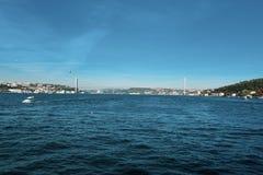 Kontinent Istanbuls Bosphorus Asien und Europas lizenzfreies stockbild