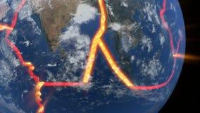 Kontinental driva vektor illustrationer