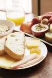 kontinental frukost Royaltyfri Fotografi