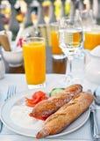 Kontinental frukost Fotografering för Bildbyråer